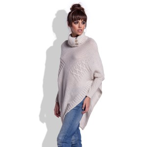 Turtleneck Poncho Moena