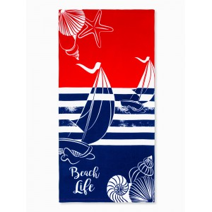 Beach Towel Sailboat